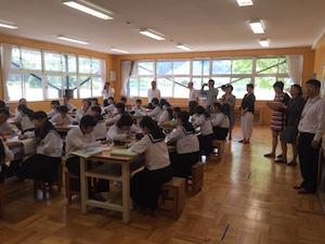 上海市教育局幹部一行が日本の教育現場を視察