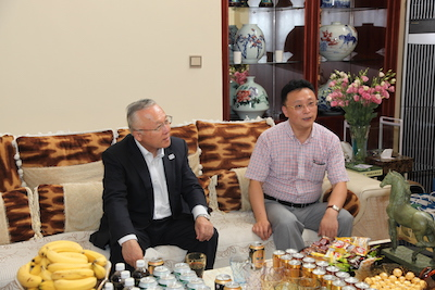 朱濤先生と副市長