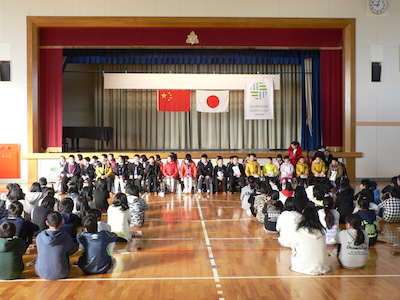 五和小学校歓迎式