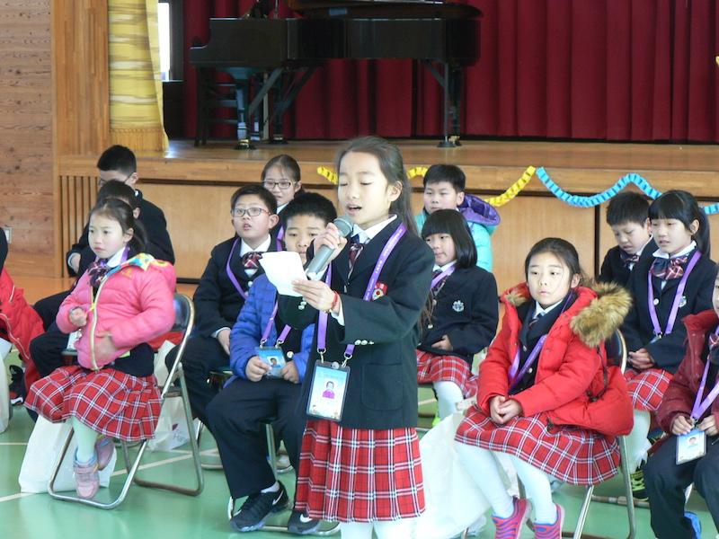 中国子供代表挨拶