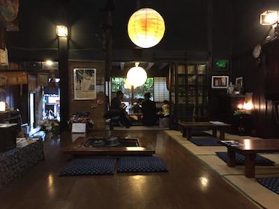 奈良井宿古民家で昼食