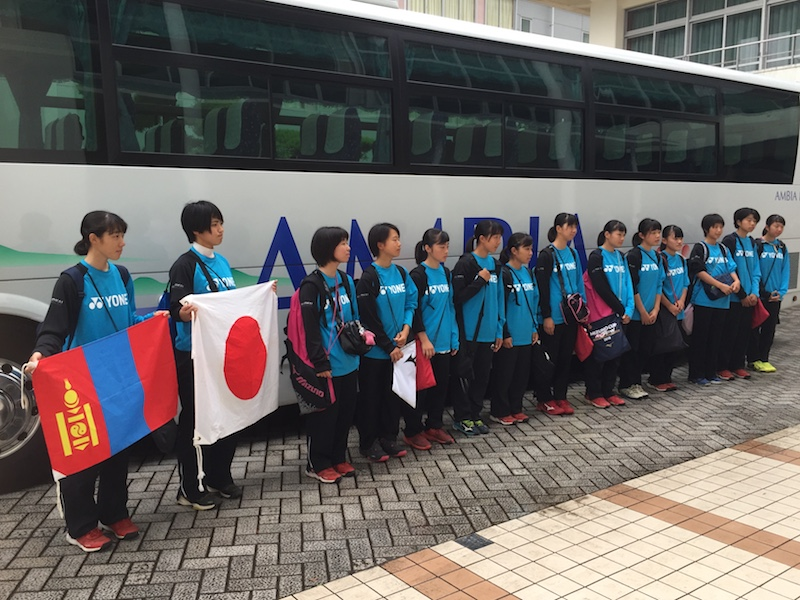 焼津高校ソフトテニス部 モンゴルへ出発