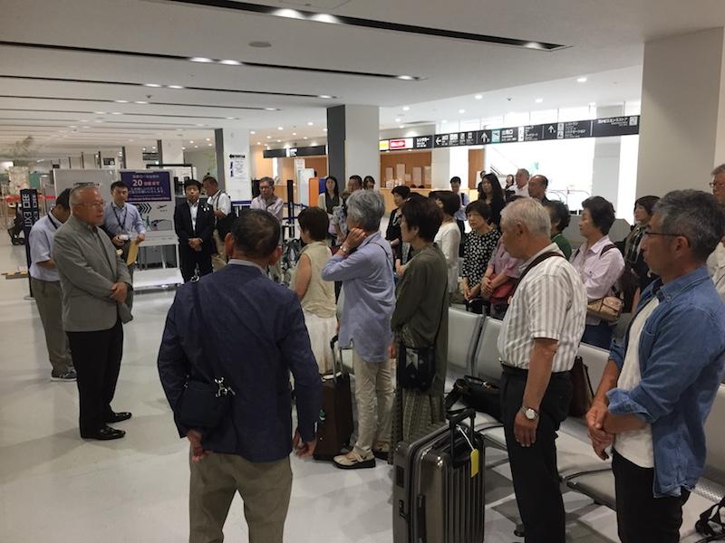 静岡空港出発式