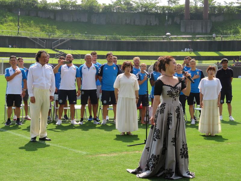 イタリア国歌斉唱