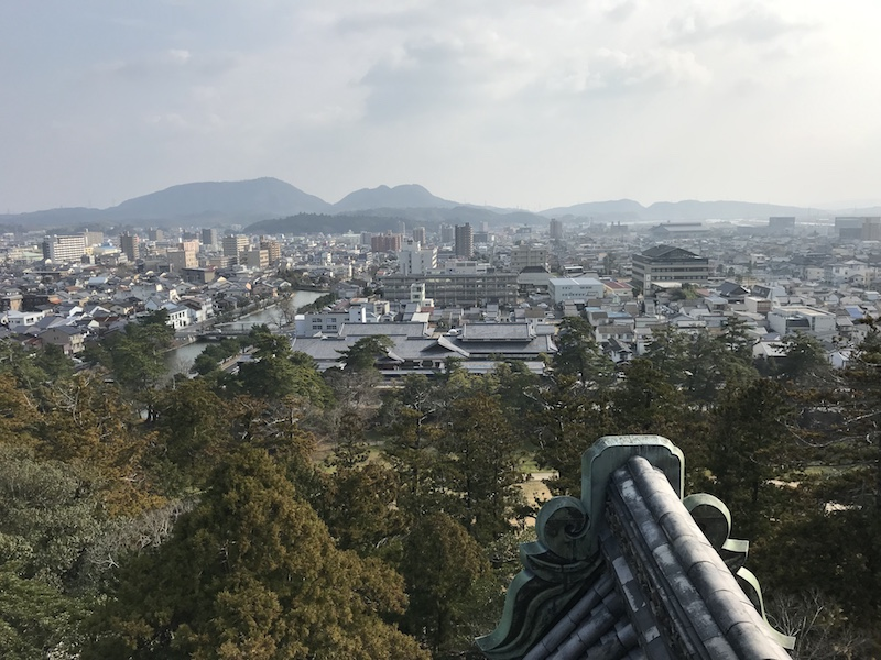 松江城天守閣より松江市内展望
