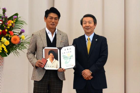 2018年10月就任 高橋克典さん 俳優、歌手、ナレーターなど多岐にわたり活躍中、高橋さんの父親が北秋田市出身ということで就任