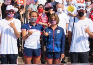 USAサーフィン代表4人(左から2人目カリッサ・ムーア選手)