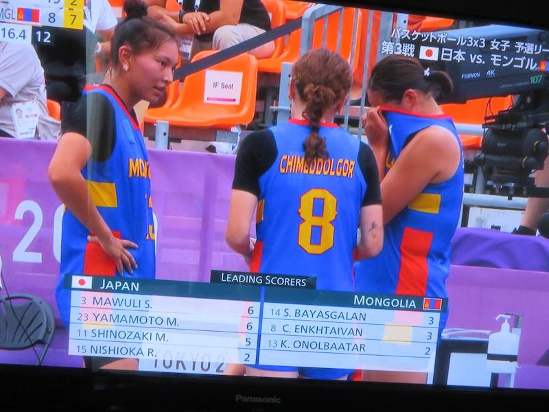 オリンピック モンゴルvs日本 テレビ中継